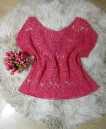 Blusa estilo crochê