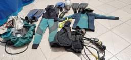 Kit equipamentos de mergulho
