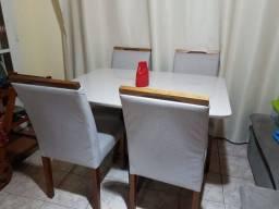 Título do anúncio: Mesa de Jantar 4 lugares marca Casa Cenário Off White