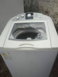 Título do anúncio: Linda máquina de lavar roupa grande semi nova15 kilos cesto de inox