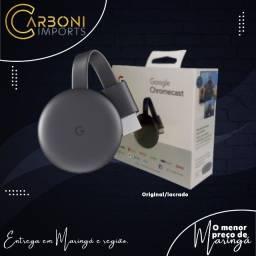 Título do anúncio: Google Chromecast 3 Full HD /Carvão /Original/Lacrado