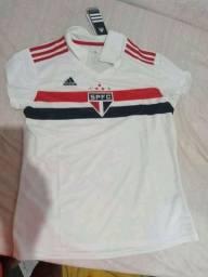 """Título do anúncio: Camisa Original Do São Paulo """"Feminina"""""""