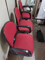 Título do anúncio: Cadeiras conjugadas escritório