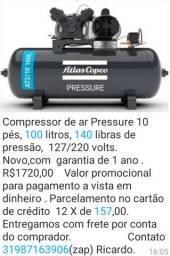 Compressor 100 litros Novo