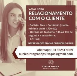 Título do anúncio: Vaga disponível para relacionamento com o cliente