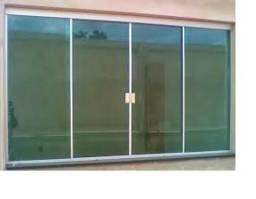 Janelas e portas padrão de vidro temperado (blindex) a partir de 210,00 o metro