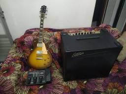 Guitarra, caixa e pedaleira