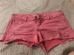 Shorts jeans Rosa tamanho 40