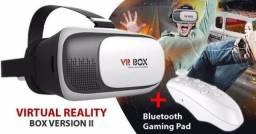 Óculos Vr Box 3.0 Realidade Virtual 3D Ios Android + Controle