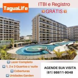Tagua Life - 1, 2 e 3 quartos - Taguatinga Sul - Financiamento Direto