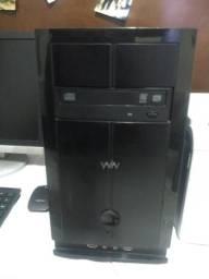 Computador e impressora laser