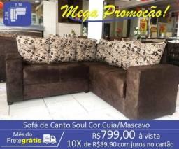 Sofá de Canto Soul Cor Cuia/Mascavo