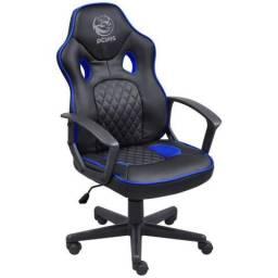 Cadeira Gamer Pcyes Mad Racer Sti Master Preto Com Azul