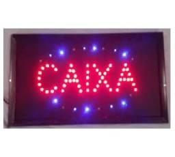 Placa Led Caixa Letreiro Luminoso Comércio 110v