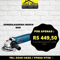 Black friday Casa Serpa - Esmerilhadeira GSW Bosch - No dinheiro ou no débito