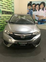 Honda fit cvt, 2015, automatico, flex + gnv, completão.