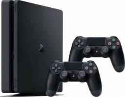 PS4 2 controles + jogos + garantia + 1tb