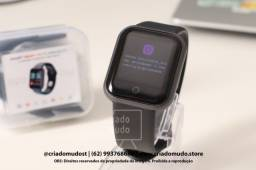 Smartwatch D20 FitPro Preto Original Notificações de Redes Sociais Promoção