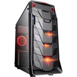 Gabinete Gamer Taurus USB 3.0 Preto LED Vermelho - Mymax