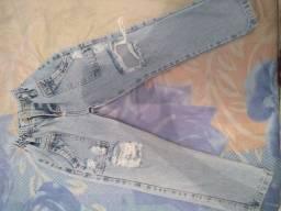 Título do anúncio: Calça jeans infantil tamanho 8 anos