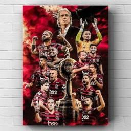 Título do anúncio: Quadro Decorativo/Placa Decorativa - Flamengo Bicampeão Libertadores 30x42