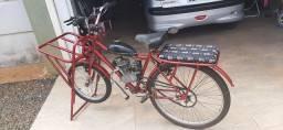 Bicicleta Cargueira com Motor 50 cc me faz 60 km/pLitro