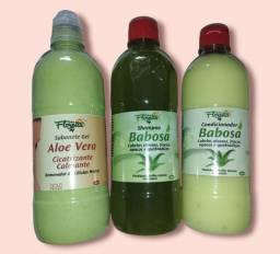 Título do anúncio: Kit Babosa/ Aloe Vera shampoo, condicionador, Sabonete gel esfoliante