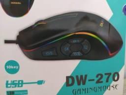 Mouse Para Jogos Durawell Dw-270 - 10 Botões - RGB - Dpi