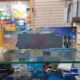 Título do anúncio: Teclado e Mouse Gamer - Sensação Mecânica - RGB BLACKLIGTH