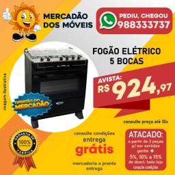 Fogão Elétrico 5 Bocas Super Barato e Entrega Grátis!!!