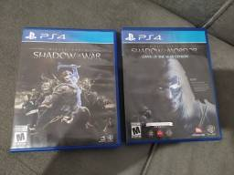 Título do anúncio: Shadow of War + Shadow of Mordor PS4
