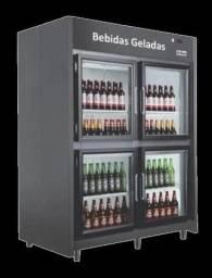 Título do anúncio: Mini câmara fria para bebidas 1.55mt 4 portas de vidro para 30cx 220v  temp -5° a +5°