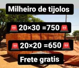 Título do anúncio: FRETE GRÁTIS a partir de um Milheiro de tijolos 20 X 20 ou 20 X 30 e cimento Mauá