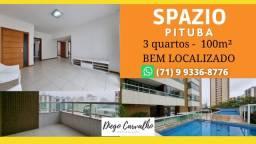 Título do anúncio: Spazio Pituba - Apartamento 3 quartos Pituba, sendo 2 suítes, com armários- (R5)