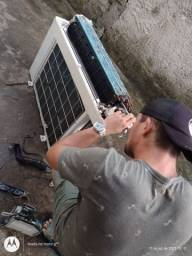Limpeza, instalação e manutenção em central de ar