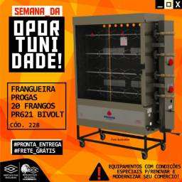 Título do anúncio: Frangueira Progas 20 Frangos Pr621 Bivolt Nova Frete Grátis