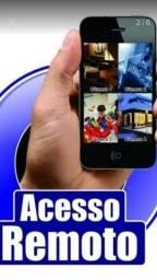 Kit de Câmeras de Vigilância com acesso remoto pelo celular