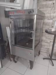 Máquina de frango giratória + churrasqueira
