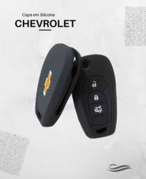 Capa de Silicone Chave Canivete Chevrolet Onix, Spin, Cruze e Tracker