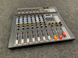 Título do anúncio: Mesa De Som 8 Canais Tyt-008 Mp3 Estéreo Digital Efeitos Usb