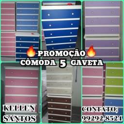 Título do anúncio: Cômoda 5 Gavetas - Super Promoção $$