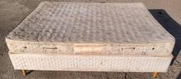 Título do anúncio: Cama box de casal com colchão de molas Ecoflex, tamanho padrão, em boas condições.