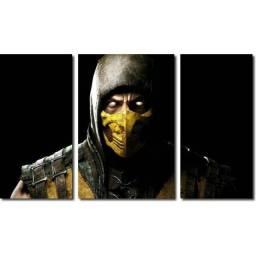 Título do anúncio: Conjunto Quadros Decorativos/Placas Decorativas - Mortal Kombat - Scorpion/Sub Zero 90x42
