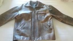 Jaqueta de couro legítima Masculina