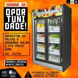 Título do anúncio: Expositor de frutas e Verduras Polar 2 Pts Preto Novo Frete Grátis