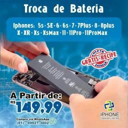 Título do anúncio: Reparo de Bateria Iphone (Coleta e Entrega Grátis)