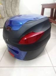 Título do anúncio: Baú azul + bagageiro YBR GIVI