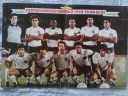02 Pôsters Atlético MG Tetra/Penta Campeão Mineiro 1981/1982