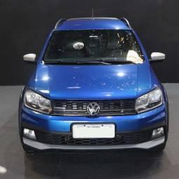 Título do anúncio: VW Saveiro Cross 1.6 M. Cabine Dupla Azul 2017