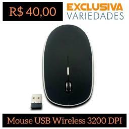 Mouse USB Wireless 2.4Ghz Preto